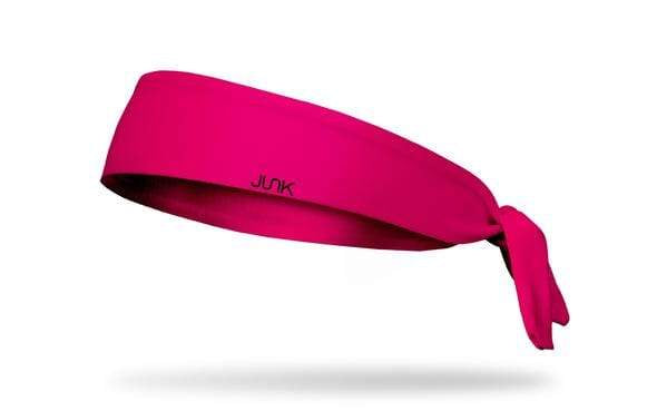 Junk Brands Headwear Accessories Pink JUNK Brands Hot Pink Tie On Headband from Lacrosse Fanatic