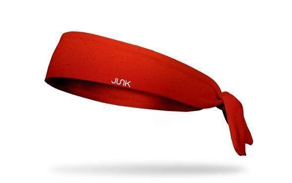 JUNK Brands True Red Solid Color Flex Tie Headband