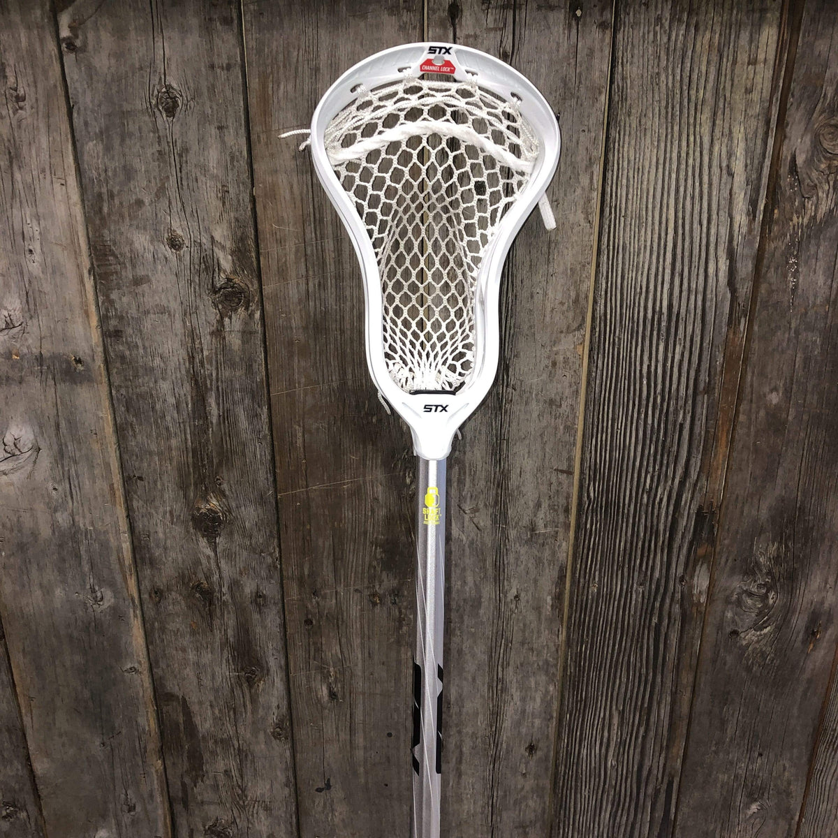 Custom Complete Lacrosse Stick STX Stallion Scandium with a Custom Strung STX Ultra Power Head