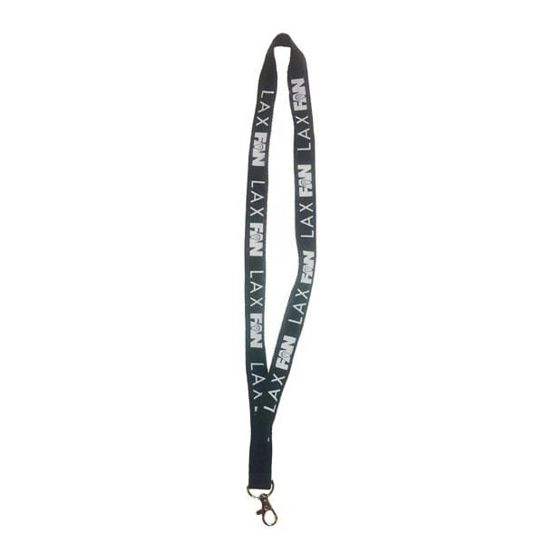 Lax Fan Black Lanyard