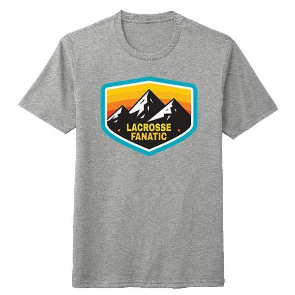 Lacrosse Fanatic Shirts Lax Fan Original T-Shirt - Heathered Grey with Adventure Graphic - Front from Lacrosse Fanatic