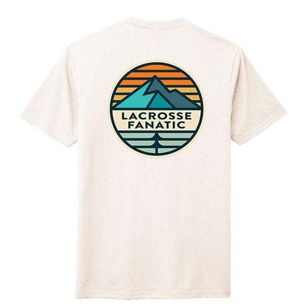 Lacrosse Fanatic Shirts Lax Fan Original T-Shirt - Natural with Mountain Graphic from Lacrosse Fanatic