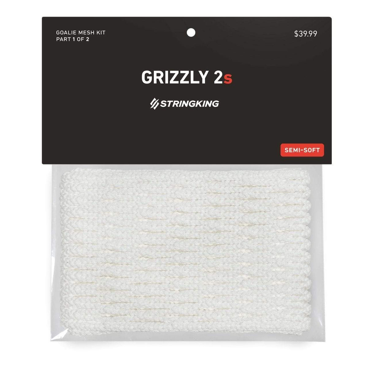StringKing Grizzly 2s Goalie Lacrosse Mesh