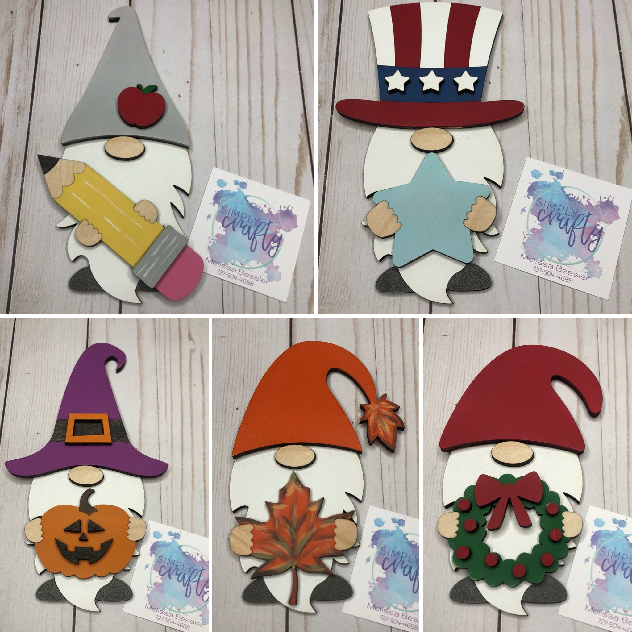 Gnome Holiday Interchangeable Pieces