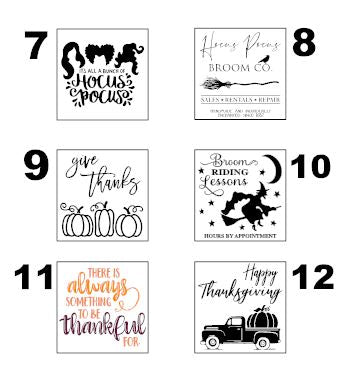 Fall Stenciled DIY Sign Kit (17 design options)