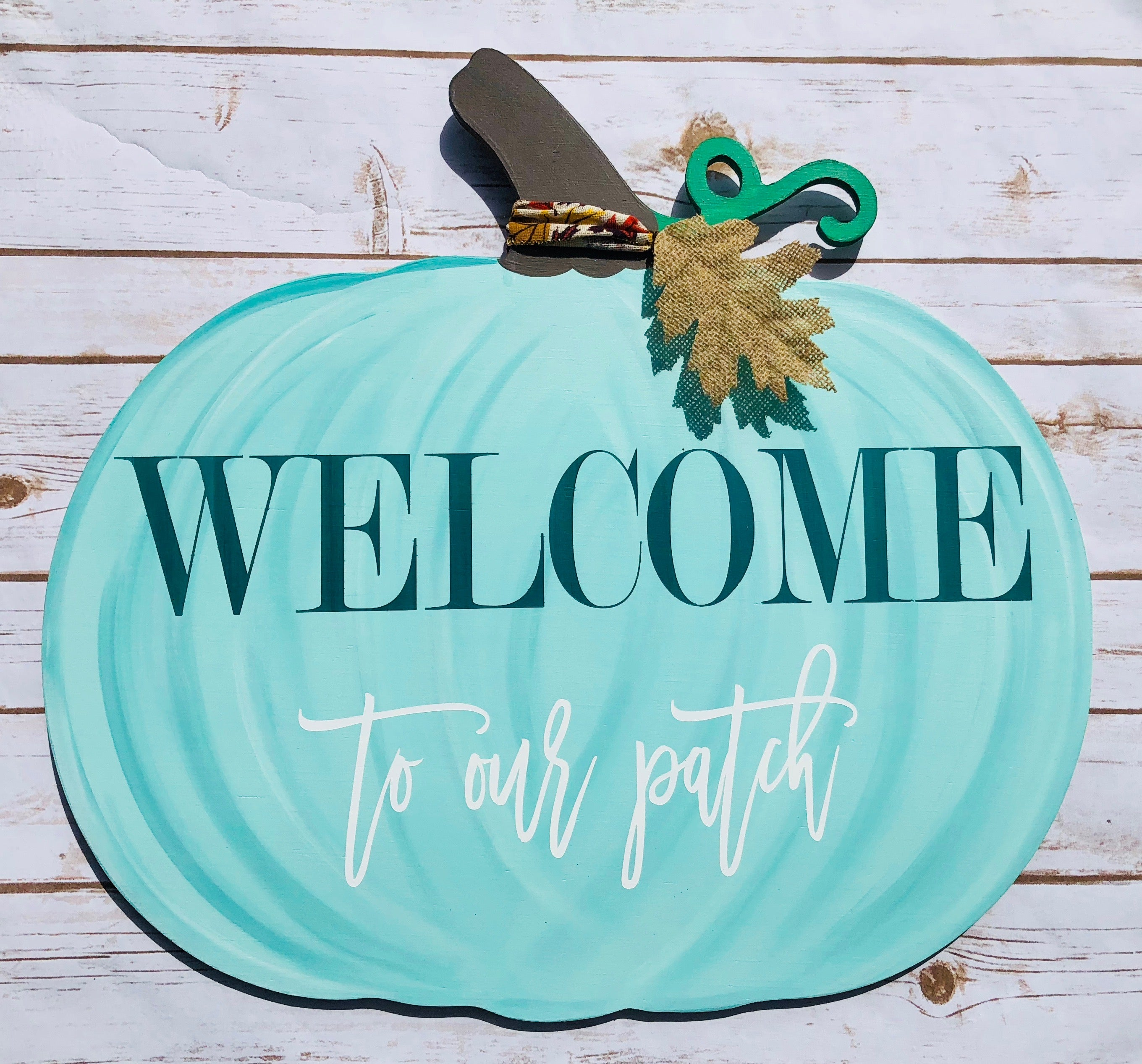 Pumpkin Door Hanger/Porch Decor