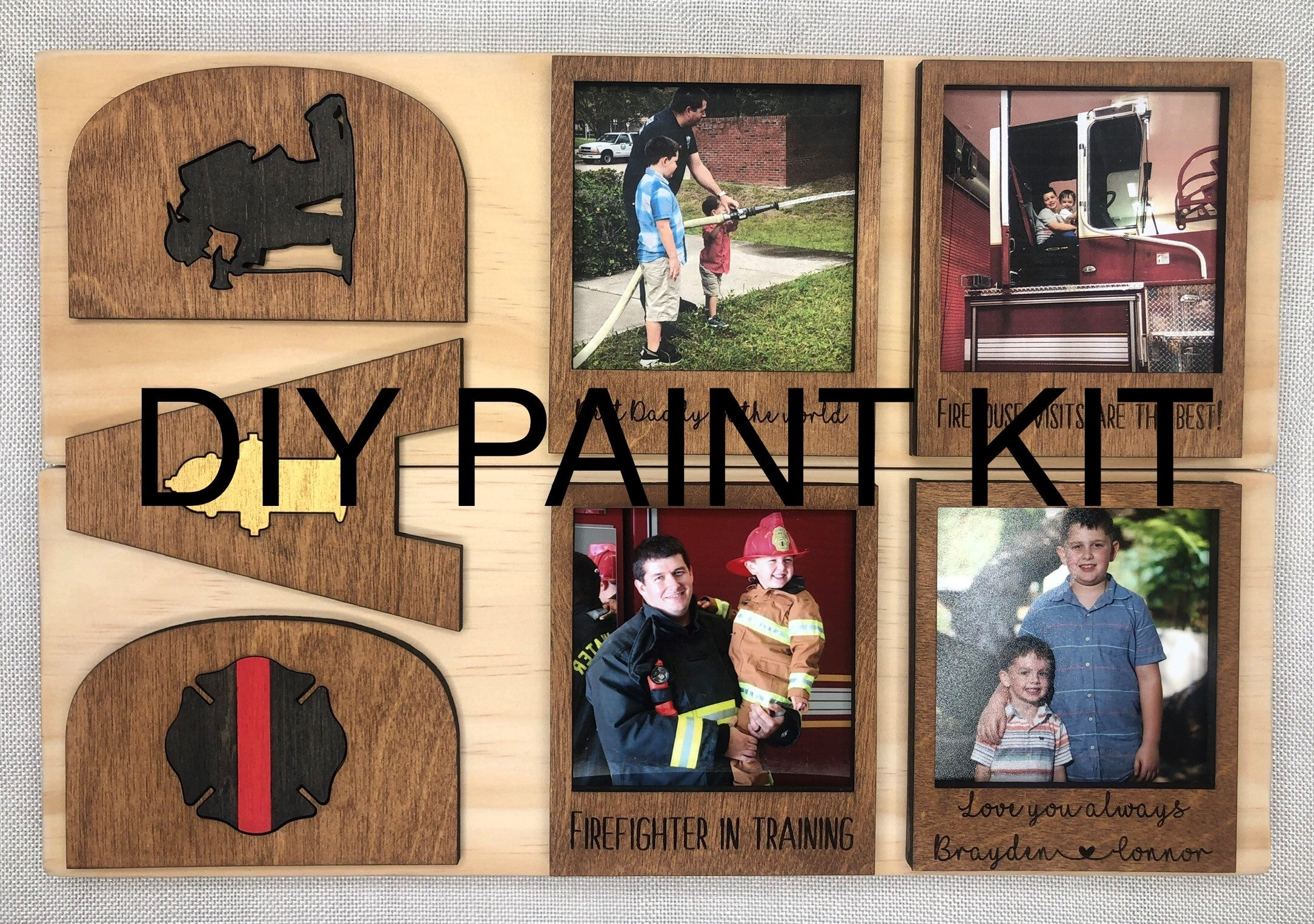 """DAD"" Planked Sign DIY Paint Kit"