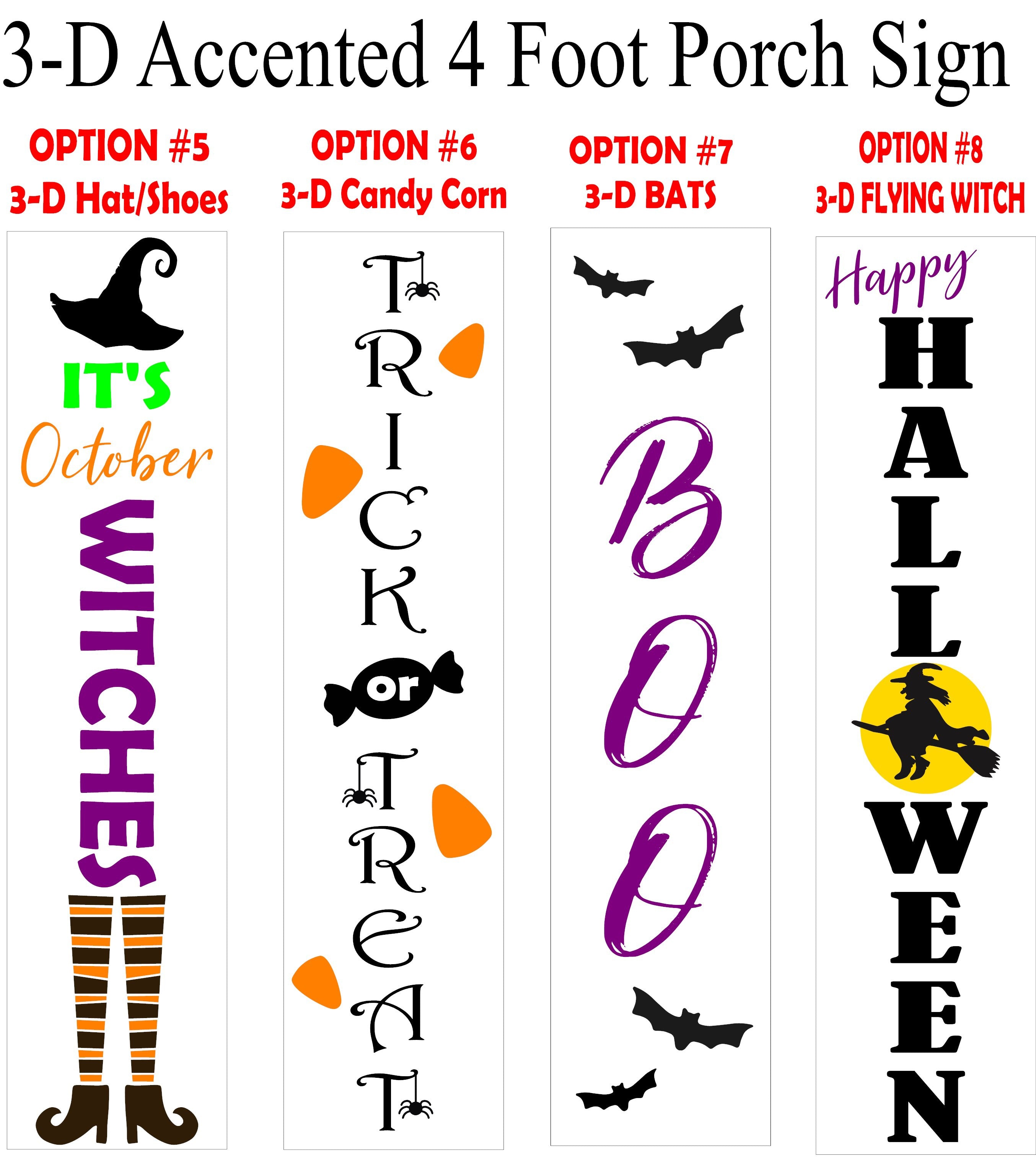 Fall/Halloween 4 Foot Porch Sign