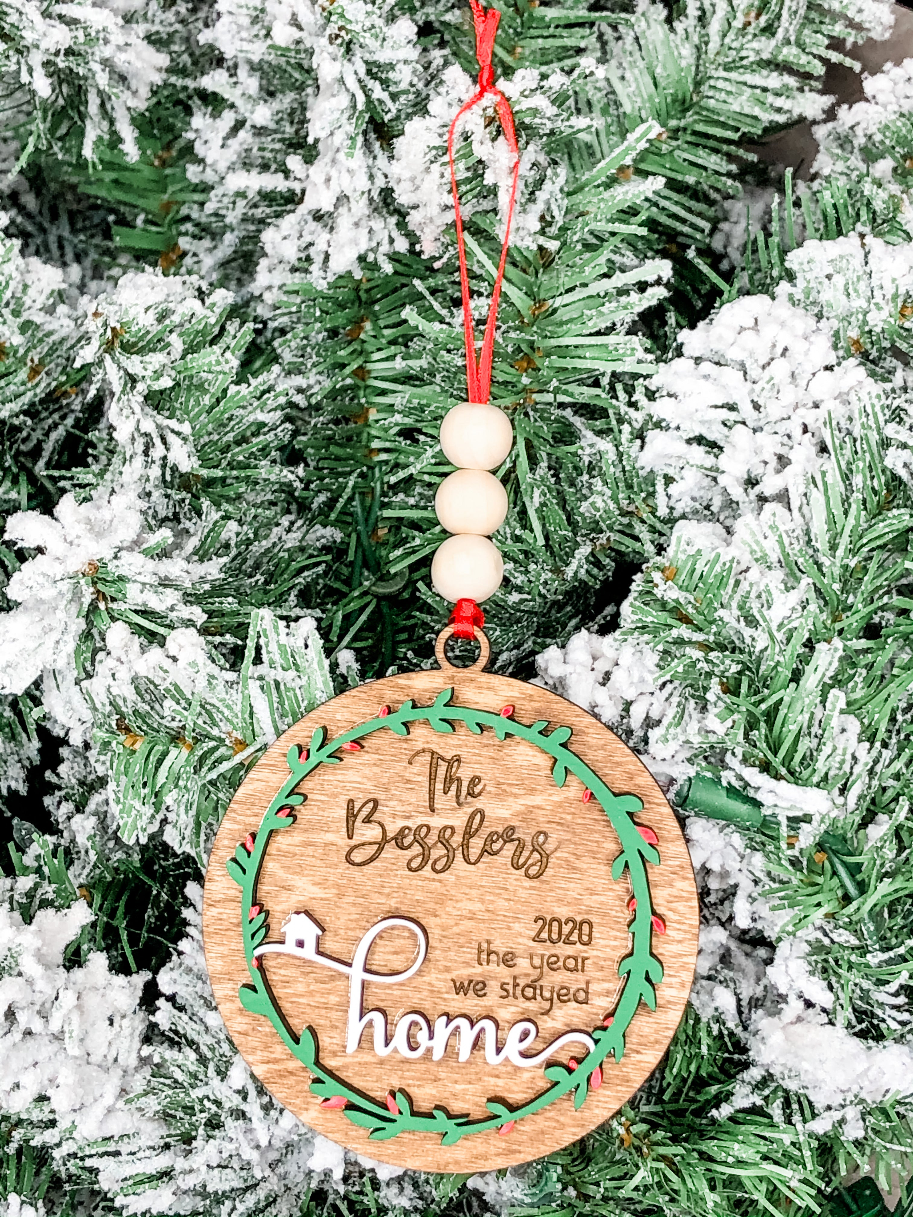 2020 Stayed Home Ornament *personalized*