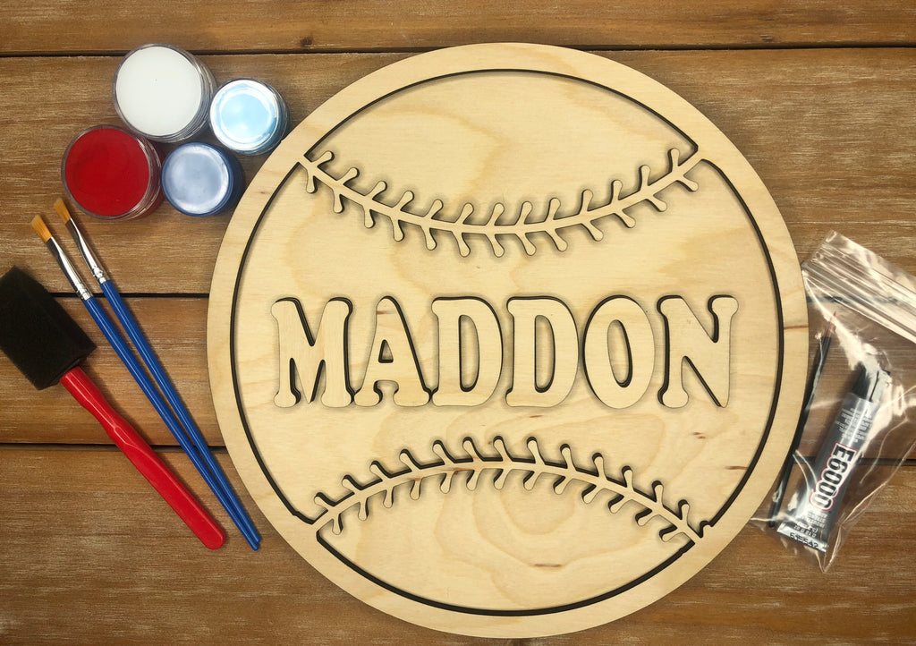 Personalized Baseball DIY Kit