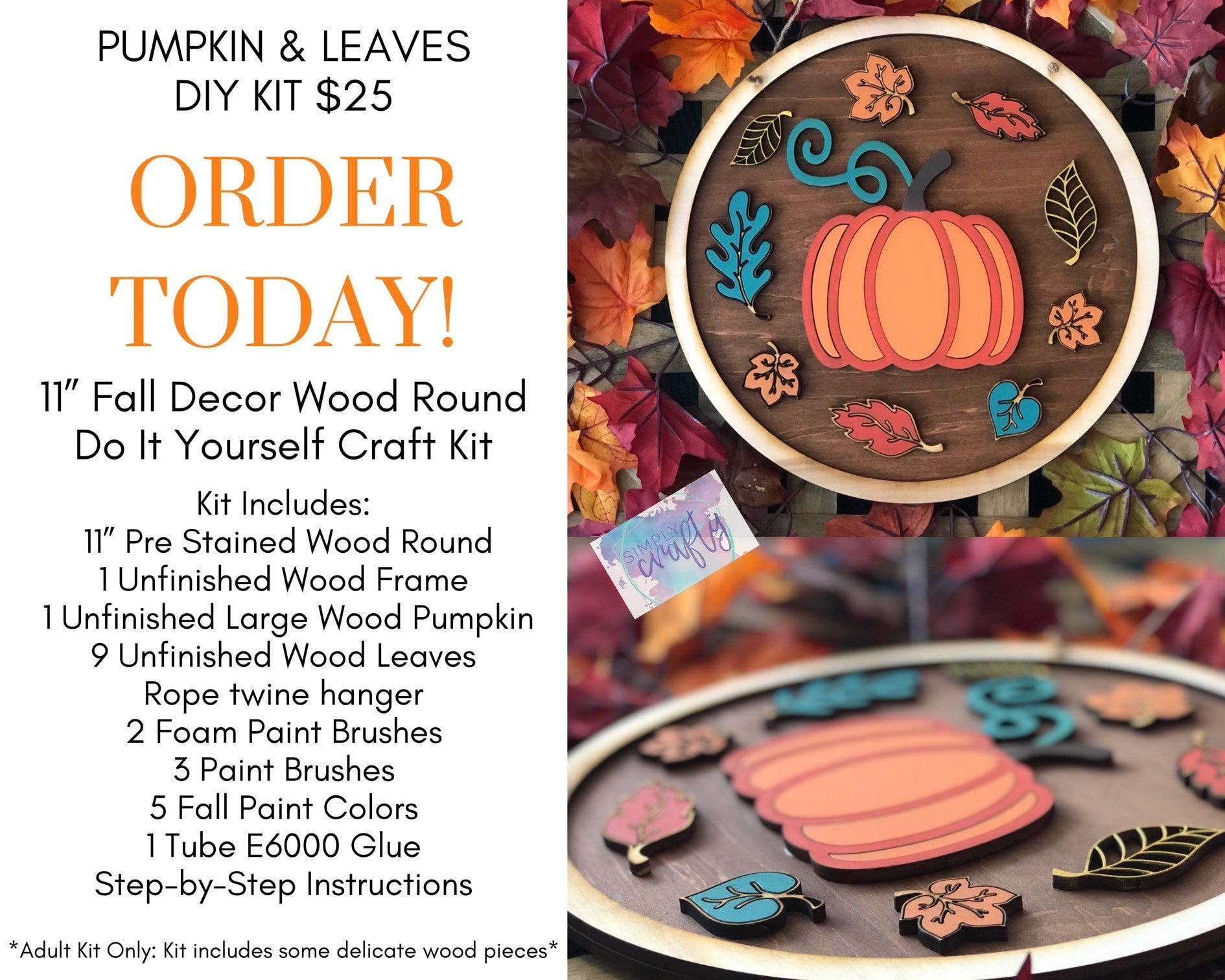 Pumpkin & Leaves DIY Kit
