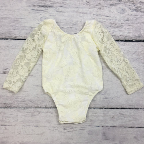 Ivory Lace Leotard