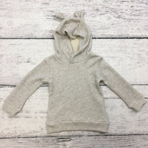 Salt & Pepper Bear Eared Hoodie