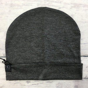 Charcoal Grey Lightweight Jersey Knit Slouchy Beanie