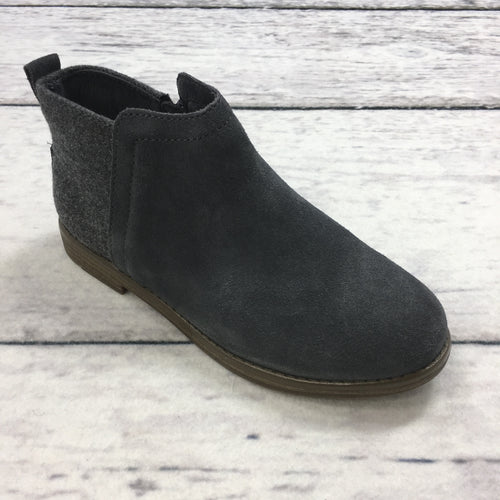 Toms Deia Forged Iron Grey Suede/Wool Bootie