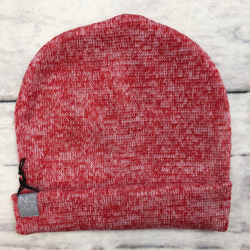 Heather Red Slouchy Beanie