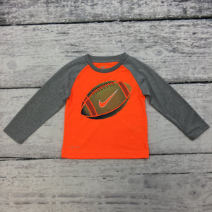 Orange Football Flow Line Shirt