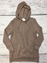 Taupe French Terry Hoodie Tunic Top