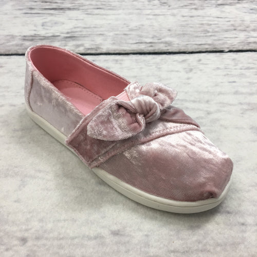 Toms Classic LT Faded Rose Velvet/Bow