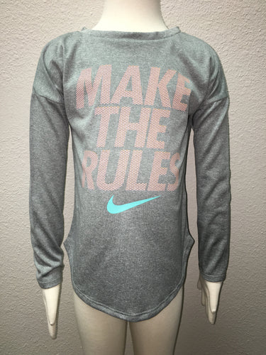 Grey Make the Rules Drifit Tee