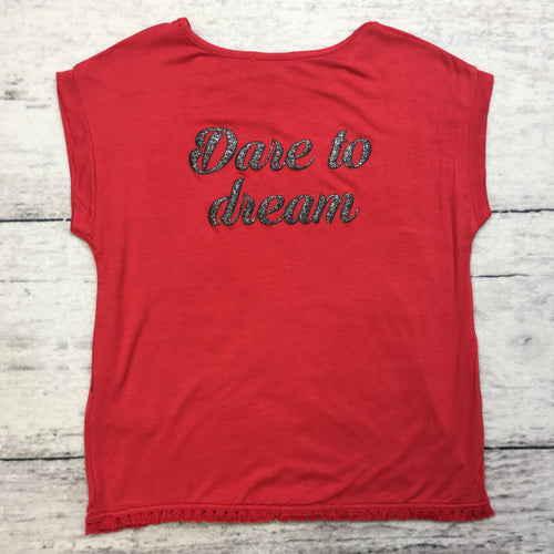 Bright Red Dare to Dream Top