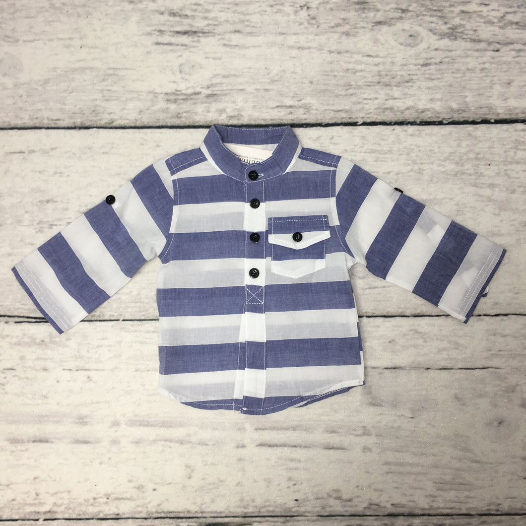 Denim Blue Stripe Shirt