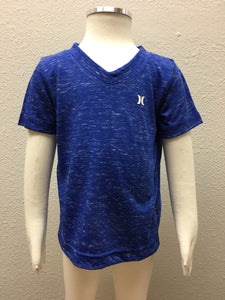 Racer Blue Cloud Slub V Neck Tee