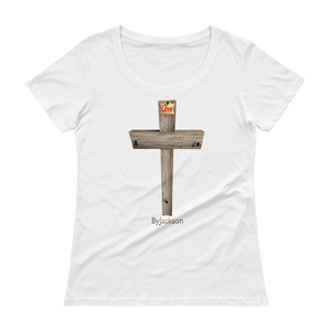 Cross Ladies' Scoopneck T-Shirt ByJackson