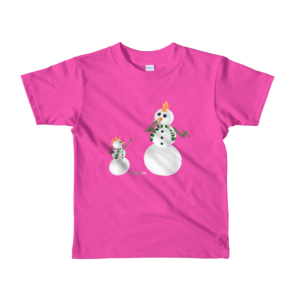 Snow Man Dad Short sleeve kids t-shirt ByJackson