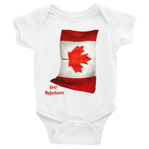 Canadian Flag, EH? Infant Bodysuit ByJackson