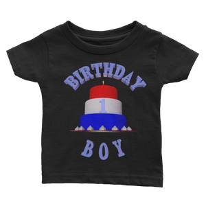 1st HAPPY BIRTHDAY BOY Baby Tee Shirt ByJackson - ByJackson