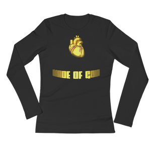 HEART MADE OF GOLD Adult Ladies Long Sleeve Tee Shirt (FRONT&BACK) ByJackson