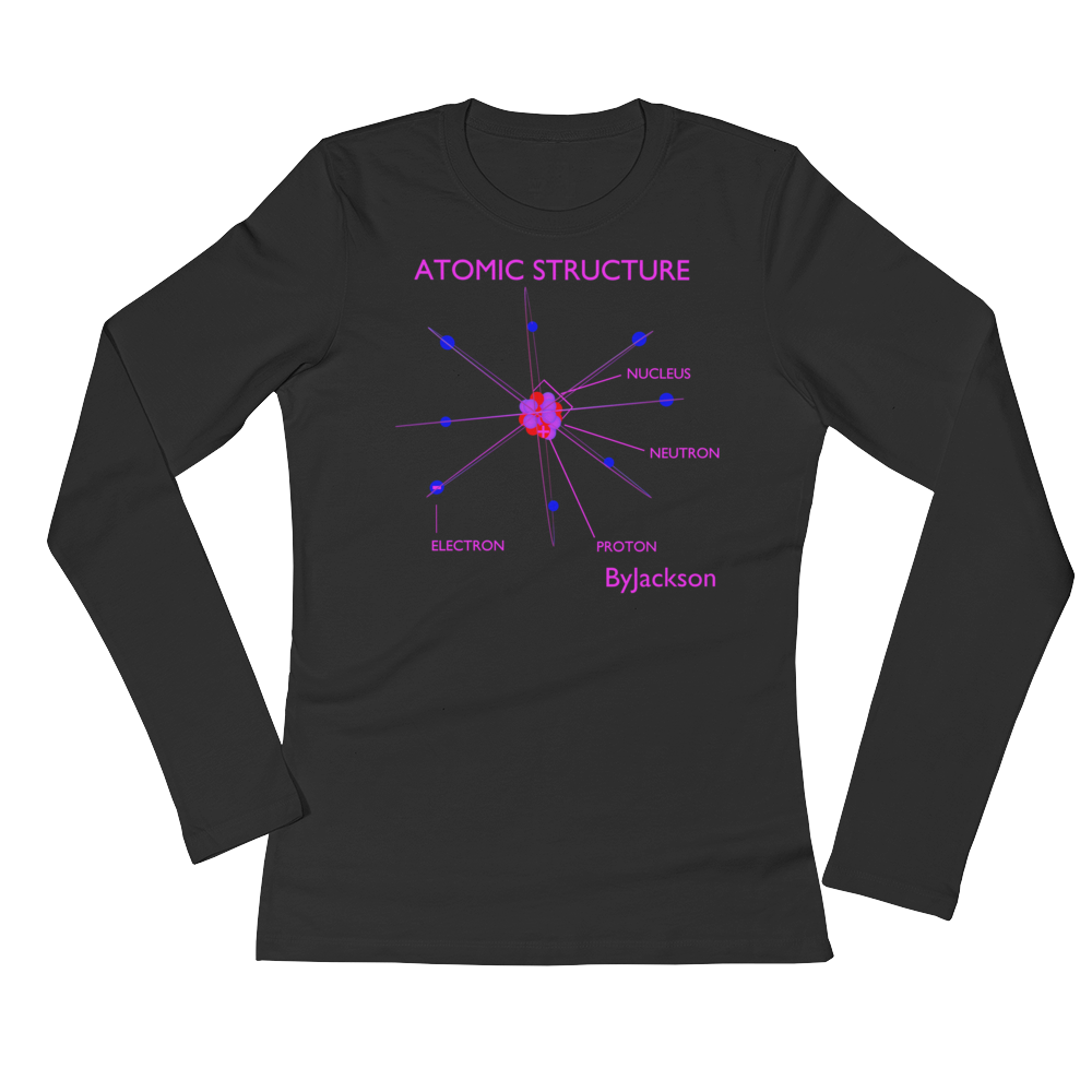 Atomic Womans Long Sleeve Tee Shirt ByJackson - ByJackson