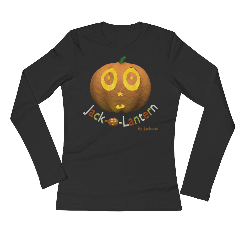 Jack-o-Lantern Ladies Long Sleeve Tee Shirt By Jackson - ByJackson