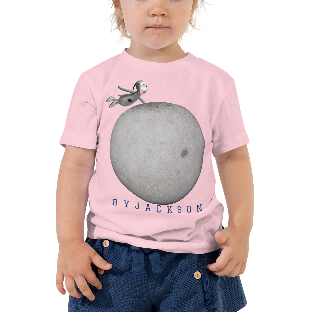 Mr.Moo Jumps Over The Moon, Toddler Short Sleeve Tee BYJACKSON