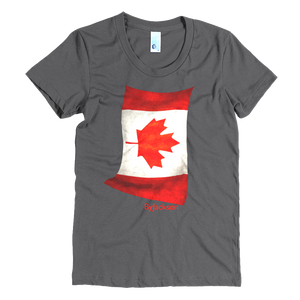 Canadian Flag Women's Crew Neck Tee ByJackson