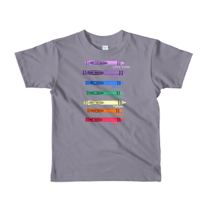 Colors in crayon kids T-Shirt ByJackson