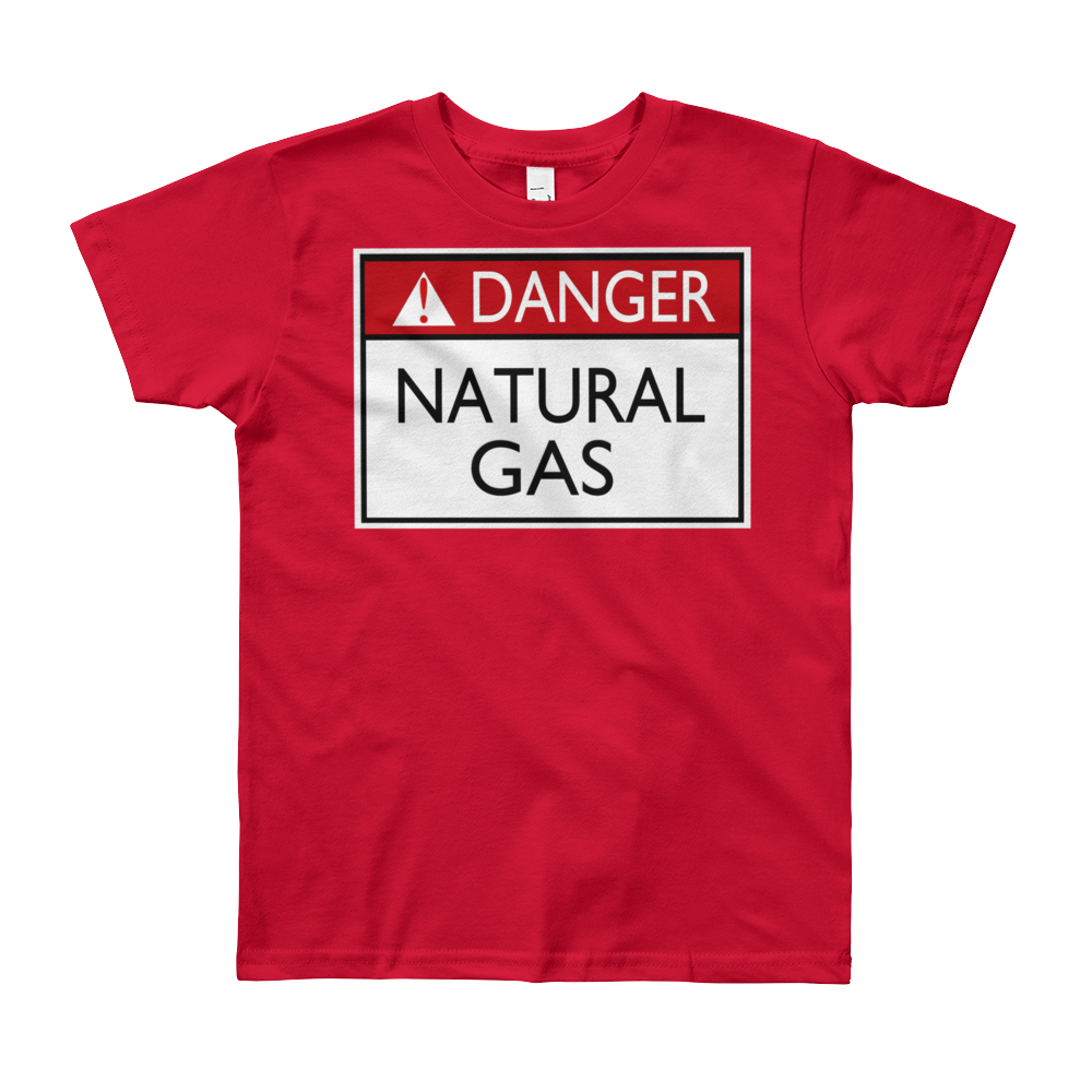 Danger Natural Gas Youth Short Sleeve Tee Shirt ByJackson - ByJackson