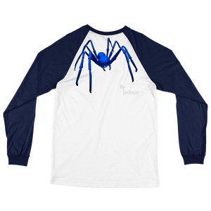 Figure 8 Spider Adult Mens Long Sleeve Baseball Tee Shirt (FRONT&BACK)  ByJackson - ByJackson