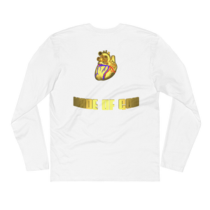 HEART MADE OF GOLD Long Sleeve Mens Fitted Crew Shirt (FRONT&BACK)  ByJackson - ByJackson