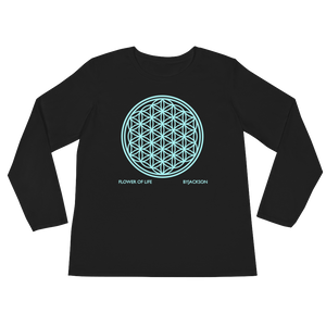 FLOWER OF LIFE Ladies' Long Sleeve T-Shirt ByJackson