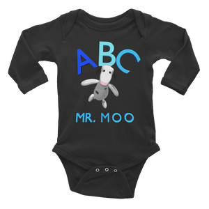 ABC Mr.Moo Infant Long Sleeve Bodysuit ByJackson. - ByJackson