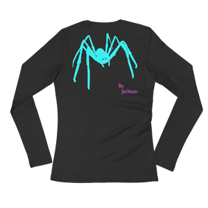 Figure 8 Spider Adult Ladies Long Sleeve Tee Shirt (FRONT&BACK) ByJackson - ByJackson