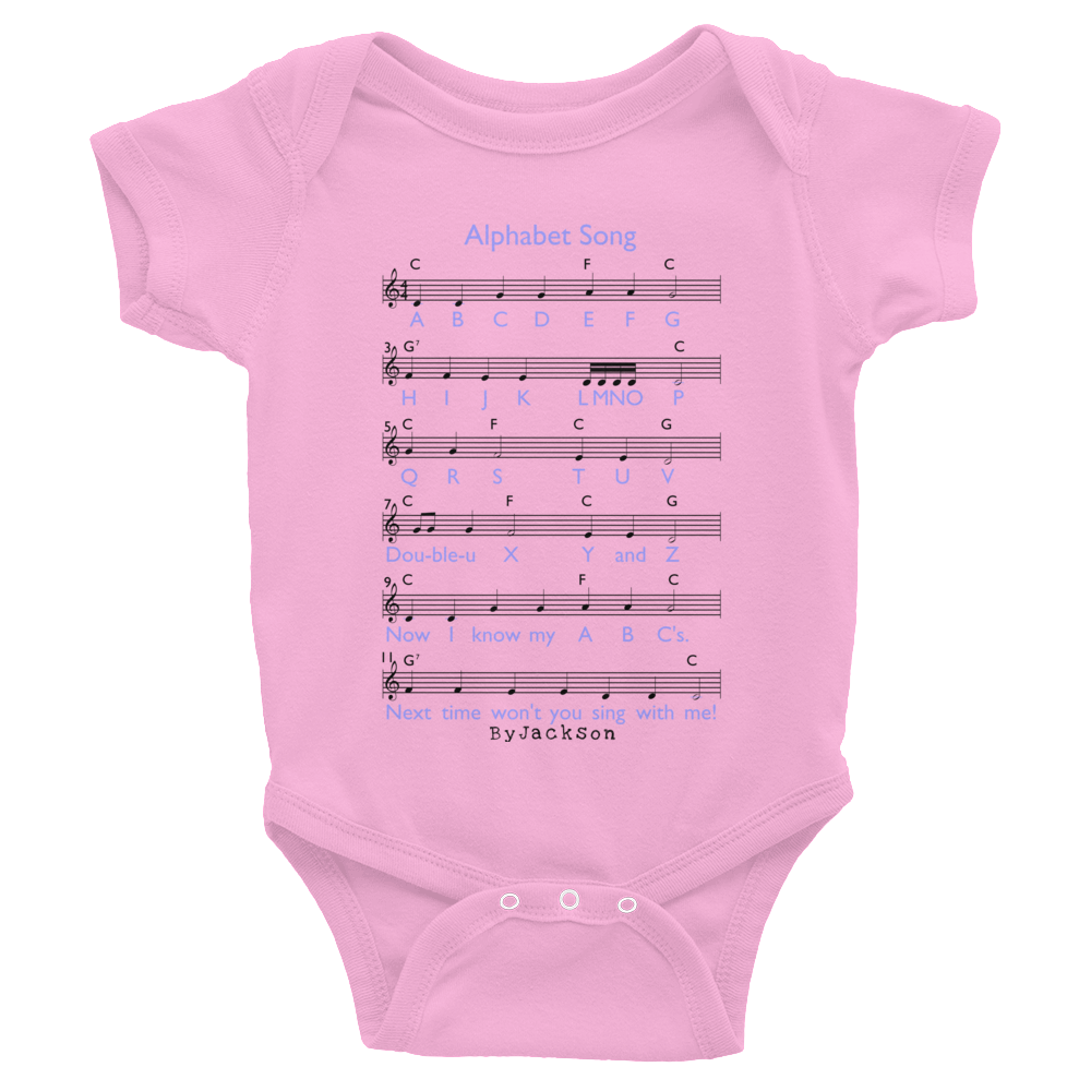 Alphabet Song bodysuit ByJackson