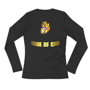 HEART MADE OF GOLD Adult Ladies Long Sleeve Tee Shirt (FRONT&BACK) ByJackson - ByJackson