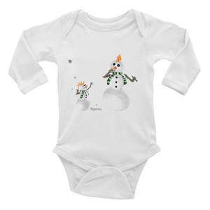 Snow Man Dad Long Sleeve Bodysuit ByJackson