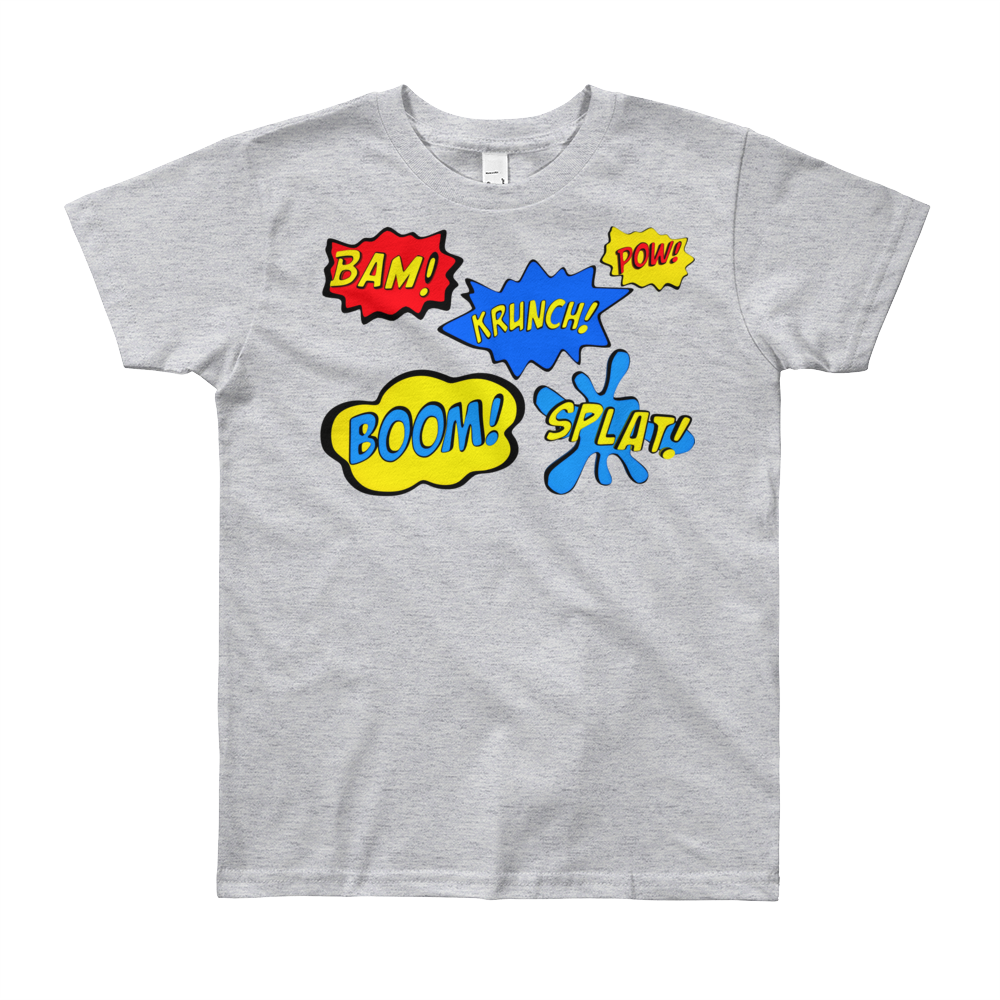 Bam Pow Youth Short Sleeve Tee Shirt ByJackson