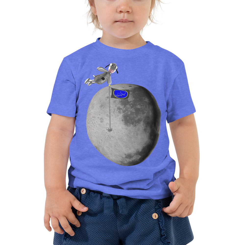Mr. Moo The Cow Jumped Over The Moon Toddler Short Sleeve Tee ByJackson