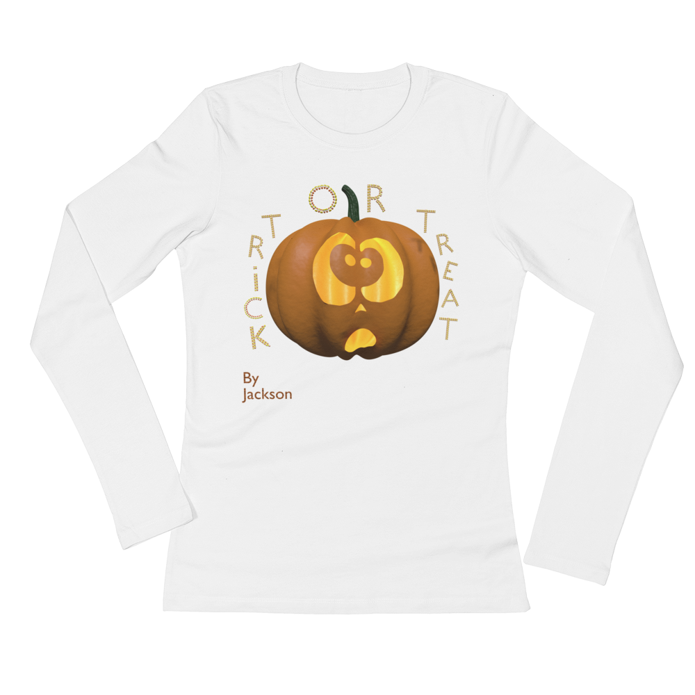 Trick or Treat Halloween Woman's Long Sleeve Tee Shirt ByJackson