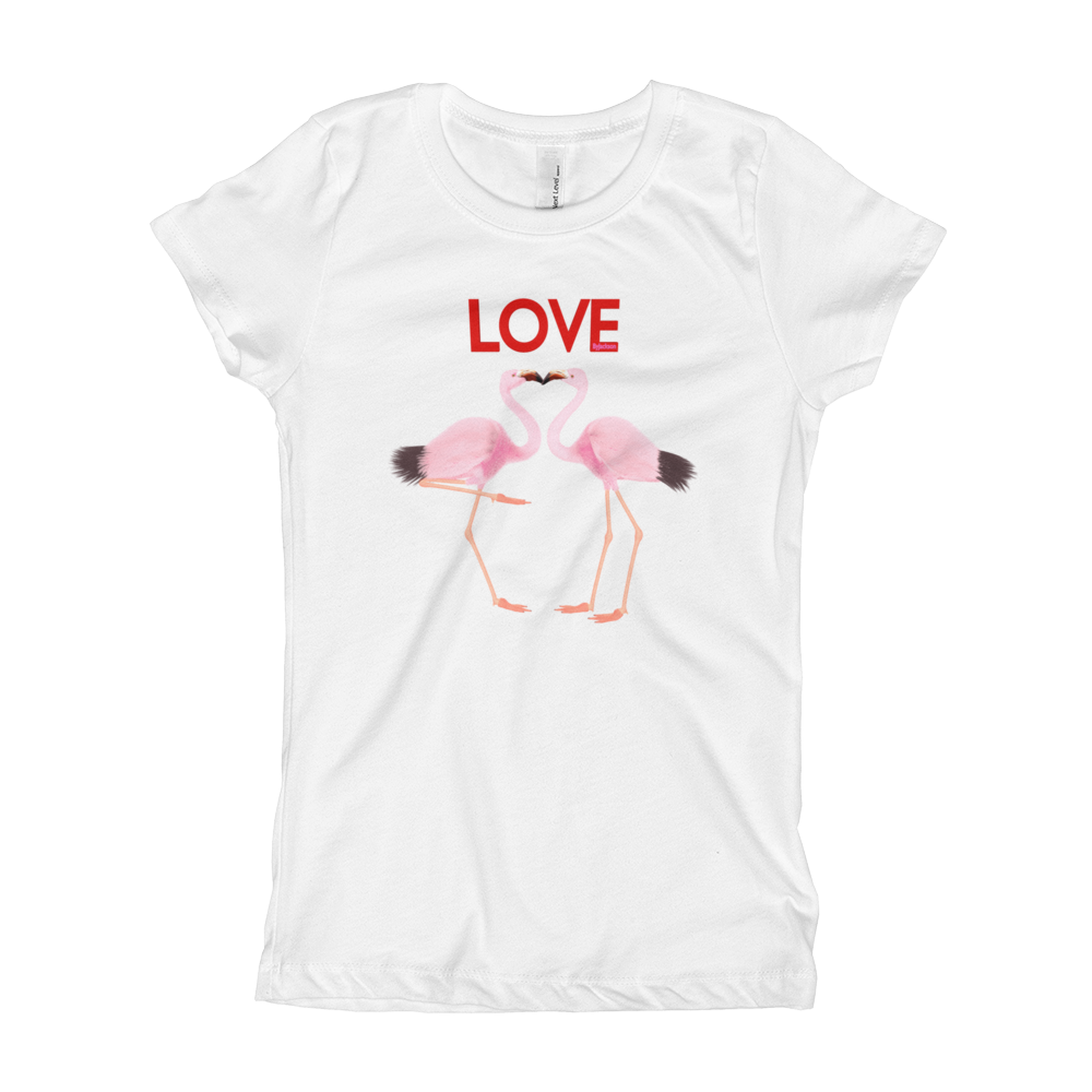 2 Flamingo Girl's T-Shirt ByJackson